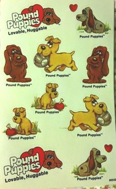 1980 S Cartoon Stickers Vintage Stickers Pound Puppies 1980s Tv Show Cartoon More My Childhood Memories Pound Puppies Kids Memories