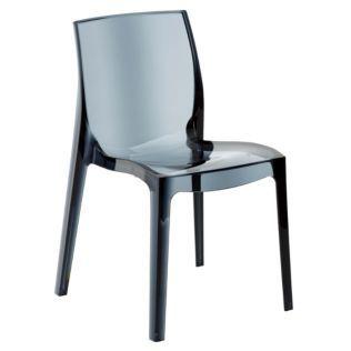 chaise design transparente grise gris