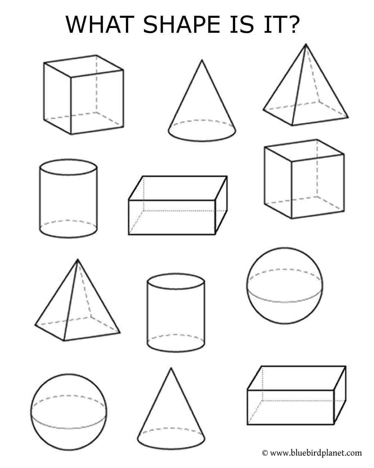 Free printables for kids   Shapes worksheet kindergarten [ 1500 x 1200 Pixel ]