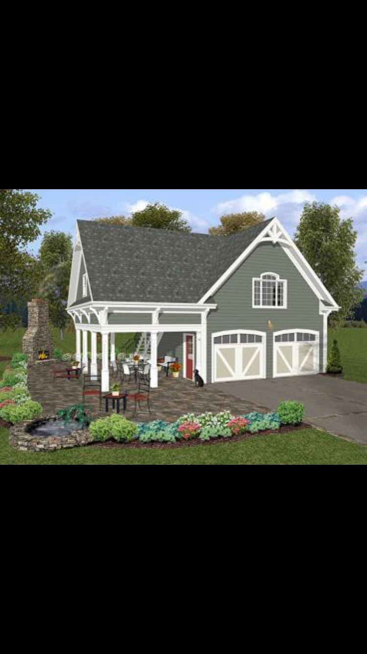Prefab garage Farmhouse style house plans Carriage