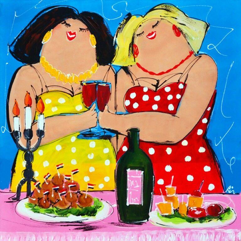Dikke Dames Aan De Wijn Winebar Ideas Pinterest
