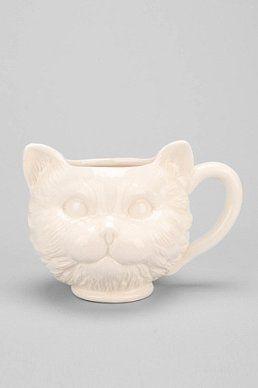 Plum & Bow Cat Face Mug