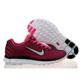 Købe Nike Free 5.0 Woven Sort Pink Hvid Dame Skobutik