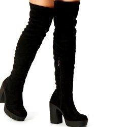 #BFCM #BlackFriday #CyberMonday #Gamiss - #Gamiss Side Zipper Block Heeled Over The Knee Boots - AdoreWe.com