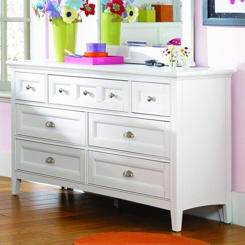 Adorable drawer white finish kids dresser