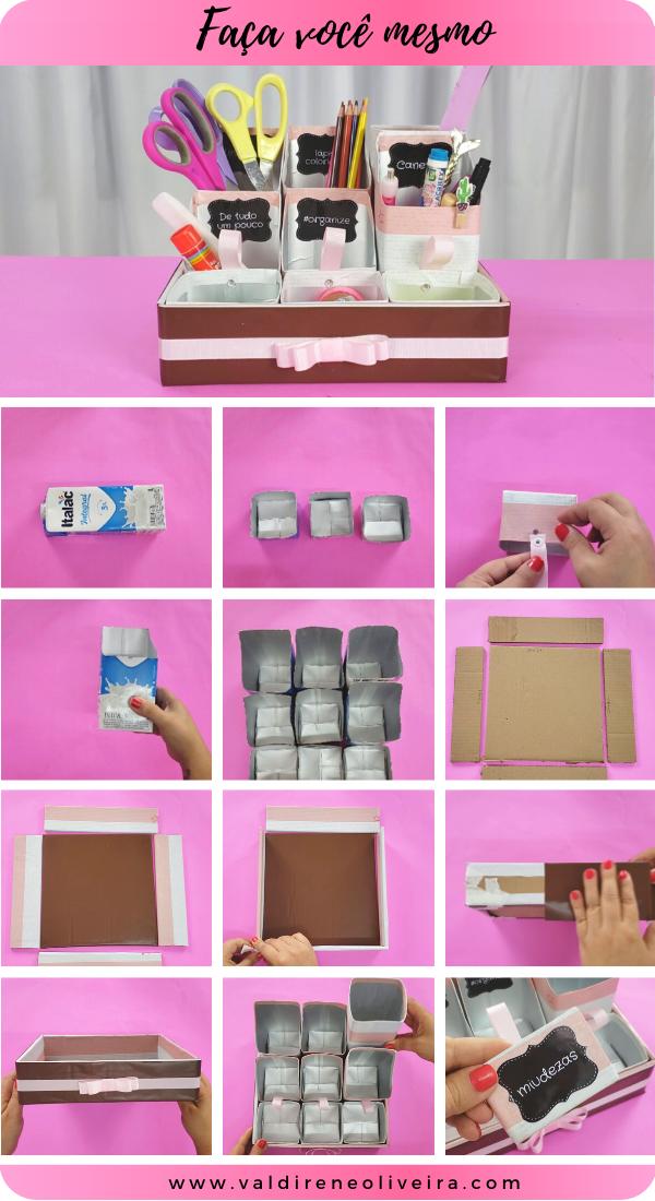 Artesanato com caixa de leite passo a passo gratis