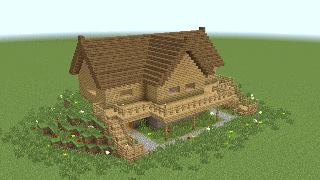 Minecraft How To Build Wooden Mansion Minecraft Designs Minecraft House Designs Minecraft Buildings