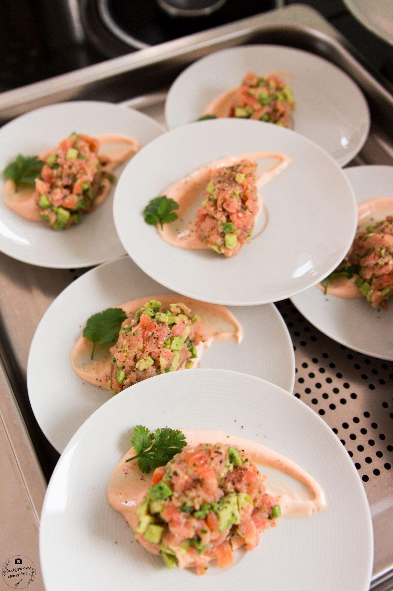 Photo of Salmon and avocado tartare with lemon sriracha mayonnaise – treasures from my kitchen