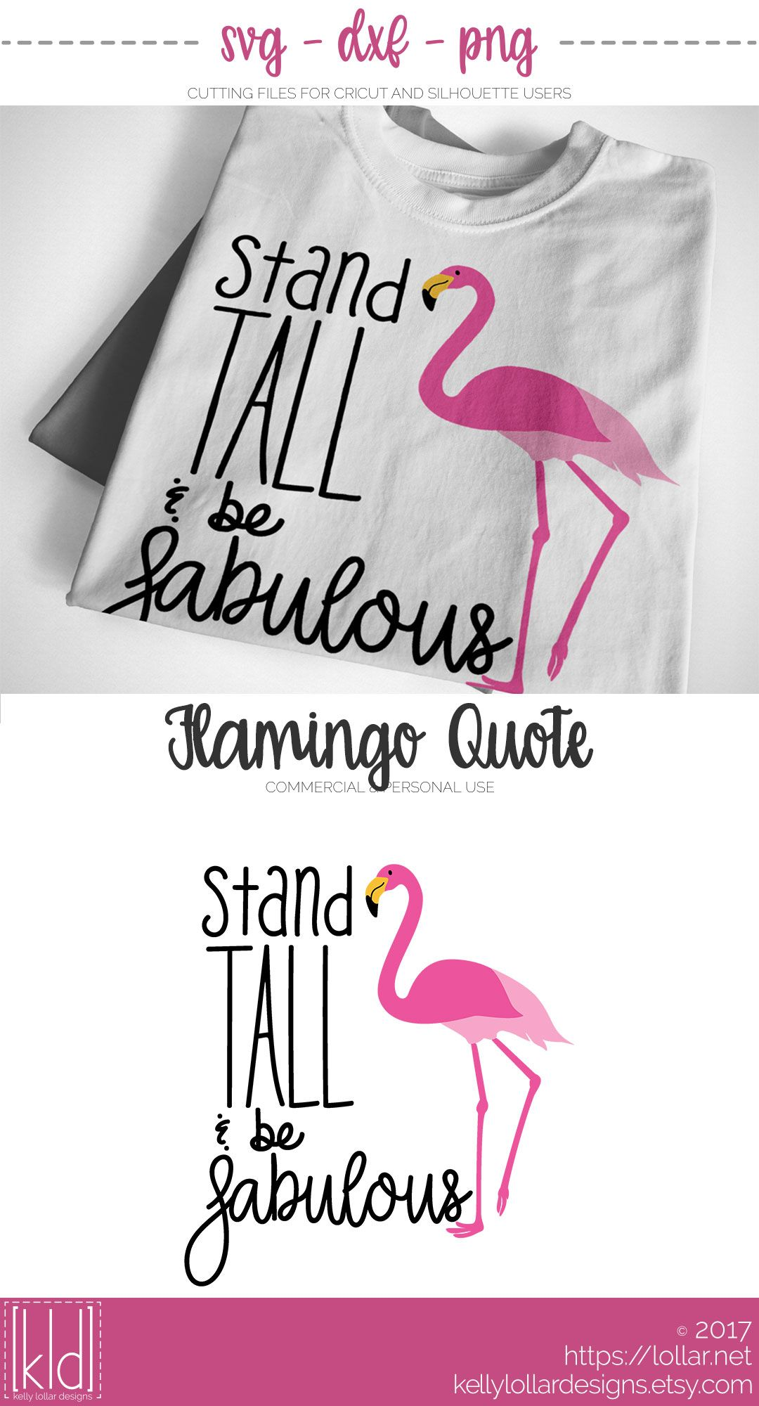 49cf7eb4b94c7 Stand Tall & Be Fabulous Flamingo | Cricut | Flamingo craft ...