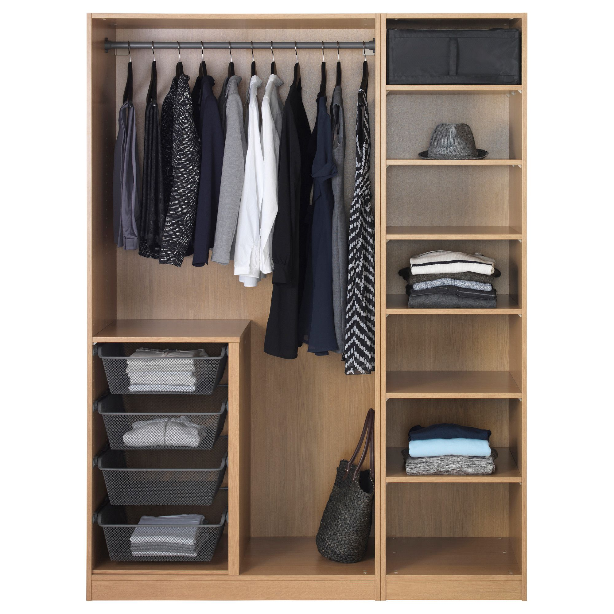 storage and r closet ideas clothes pcok rack interesting four fascinating furniture portable with offering frames system cl model featuring wooden bags shelf stained design white wardrobe ikea co black pax hanging