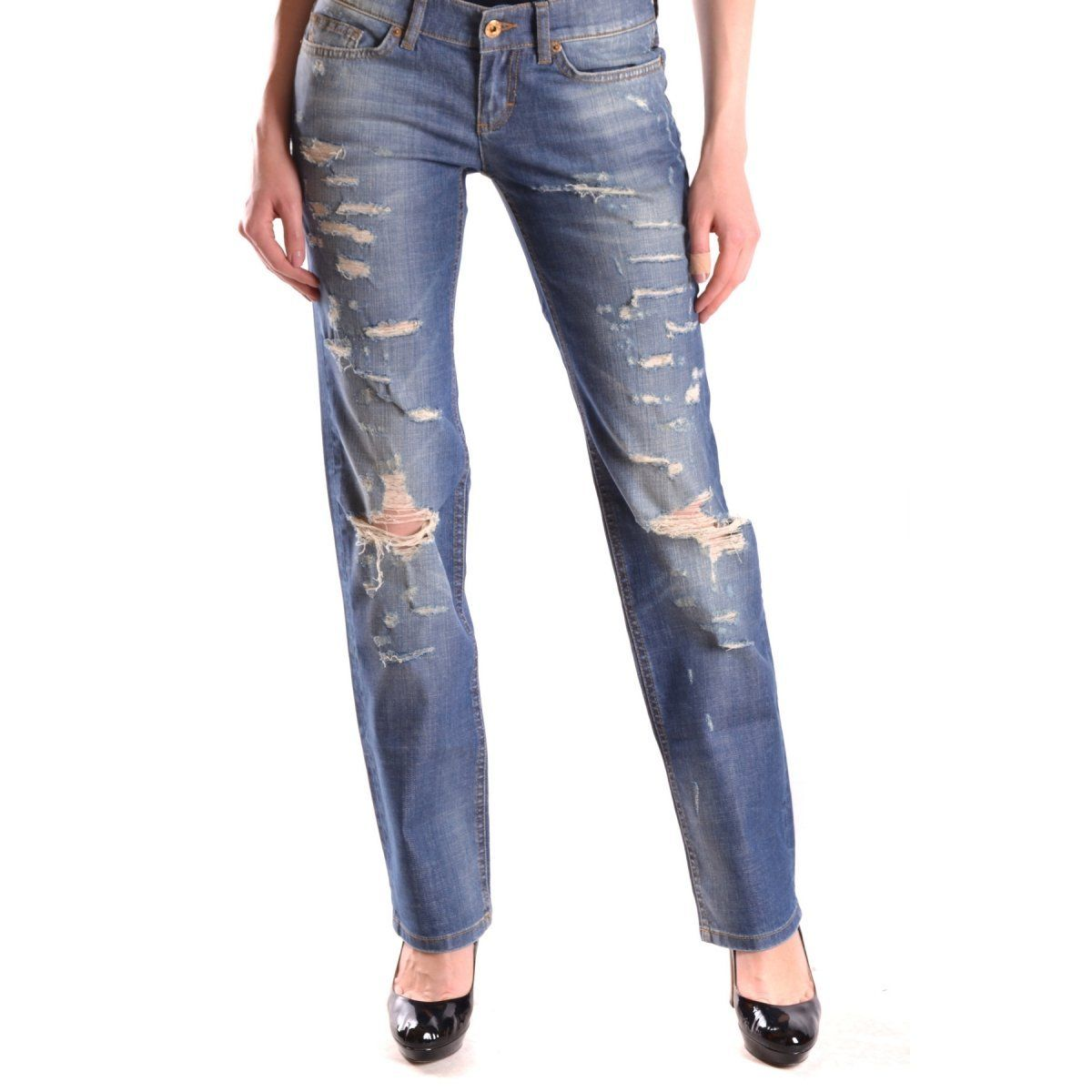 Jeans D&G Dolce & Gabbana. Terms New: with label Clothing Type jeans main Color blue season Spring / Summer Made In TURKEY Gender Woman Size: US Composition Cotton : 99%, Elastane : 1%.
