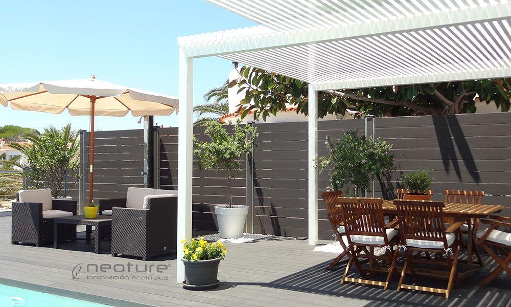 Cerramiento madera sintetica neoblock jardin - Vallas y cerramientos ...
