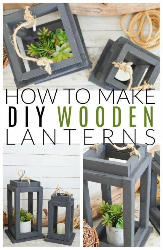 Brighten up your Decor with DIY Wooden Lanterns #anawhite