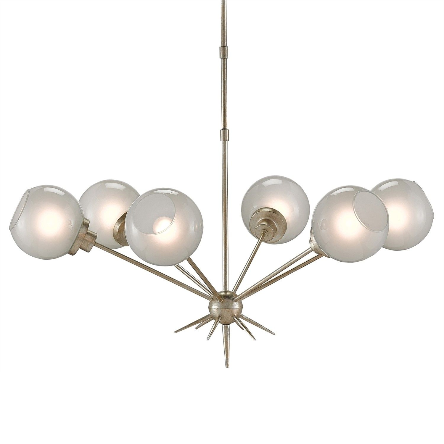 Featuring a Silver Leaf finish the Shelly Chandelier is chic and