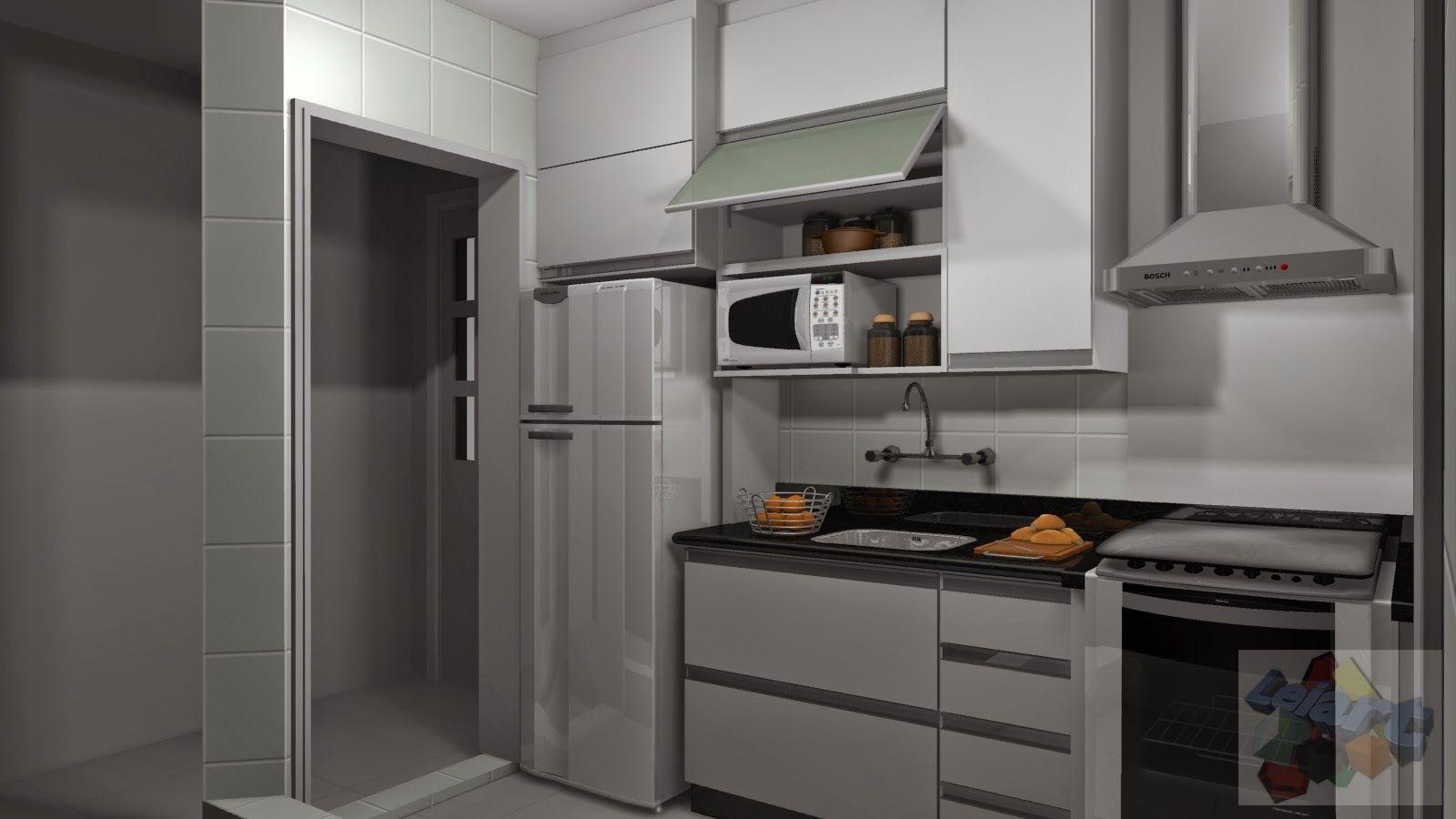 1 A Moveis Cozinha Planejadas Pequenas Decorada Americana Modulada