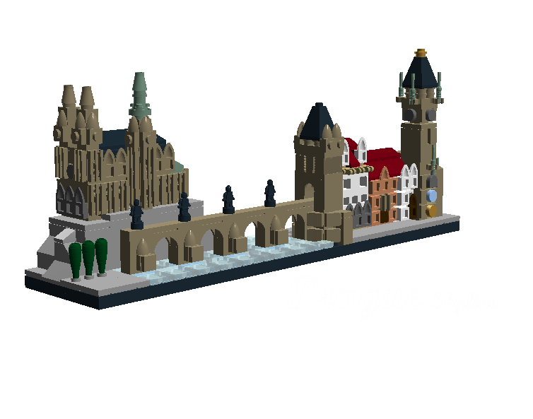 Prague Skyline, by legofan2672. This is a nice recreation