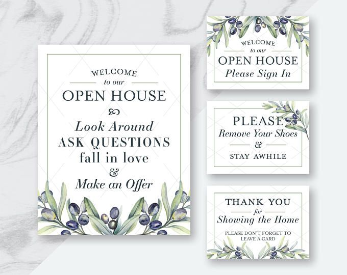 graphic regarding Welcome to Our Open House Printable identified as Open up Room Signs or symptoms, Genuine Estate Printables, Genuine Estate Flyers