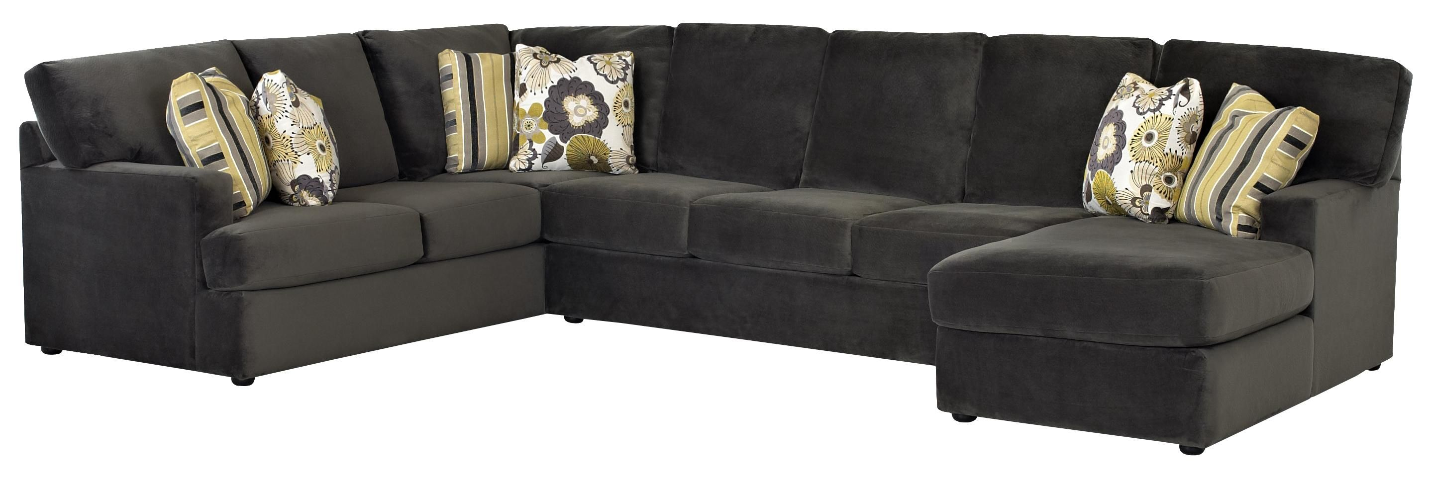 Maclin K91500 Sectional Sofa with Right Side Chaise by Klaussner | Wolf Furniture  sc 1 st  Pinterest : klaussner sectionals - Sectionals, Sofas & Couches