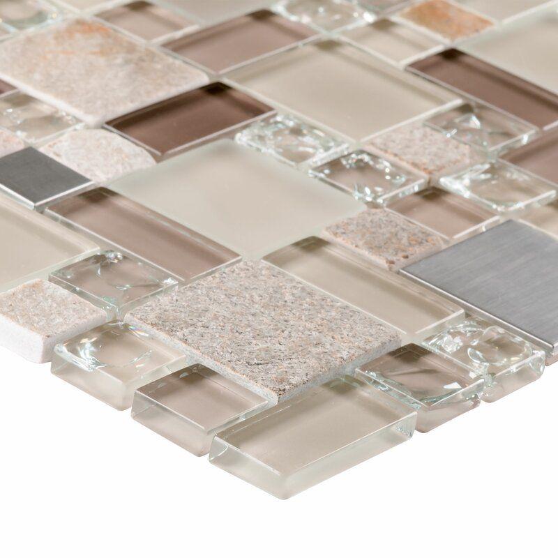 Modular Random Sized Natural Stone Glass Mosaic Tile In 2021 Glass Mosaic Tiles Mosaic Glass Stone Tile Wall