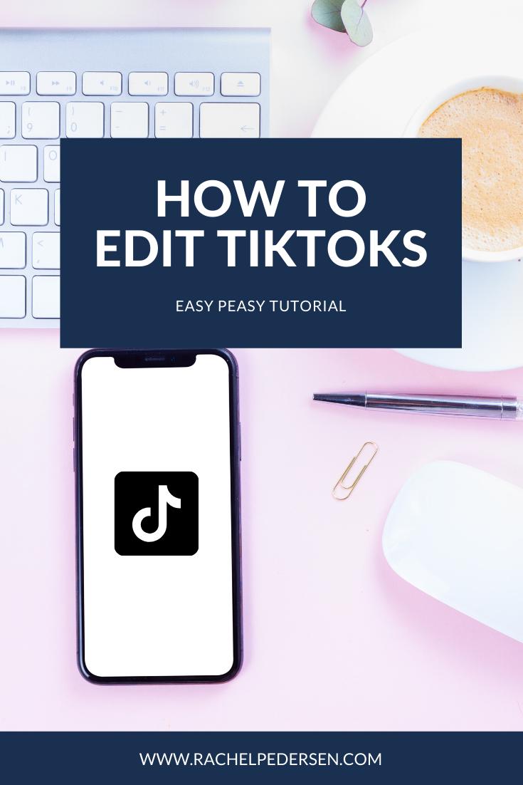 How To Edit A Tiktok Video Editing Tutorials Tutorial Network Marketing Business