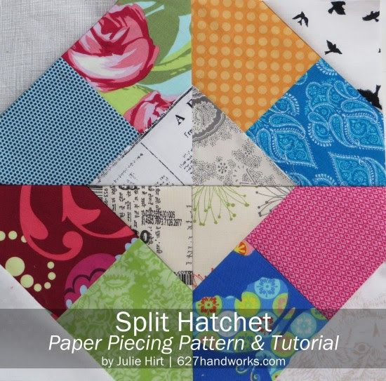 Free Split Hatchet Paper Piecing Pattern