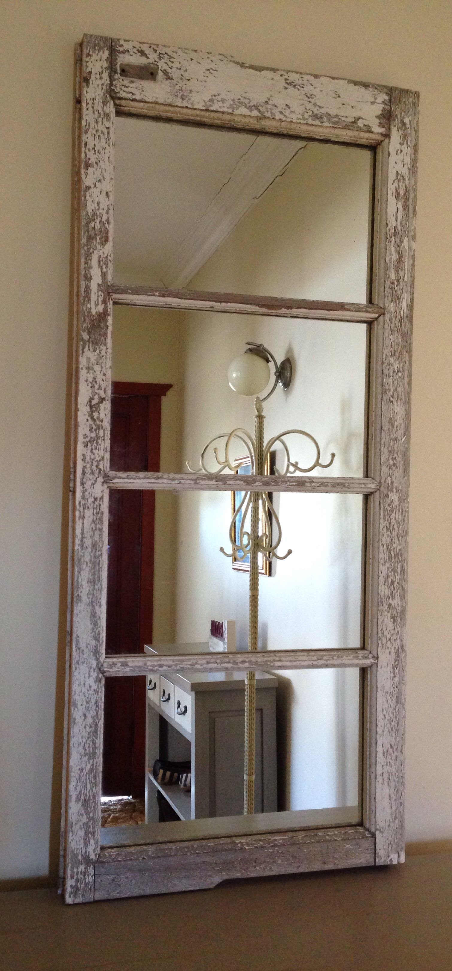 Old Window New Mirror Upcycled Casement Windows Shabby