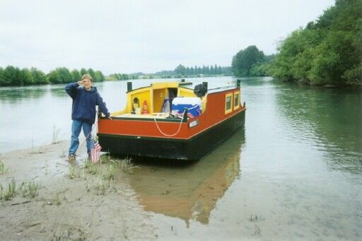 Escargot. A trailerable shanty boat   Boats I would like to build   Pinterest   Boating, Small ...