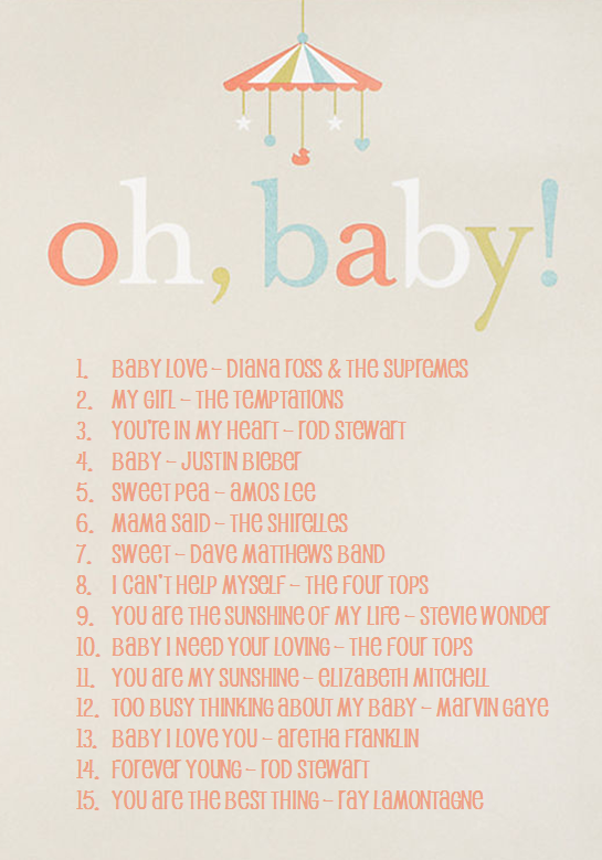 Create A Playlist Of Moms Or Babies Favorite Songs Vbpinparty