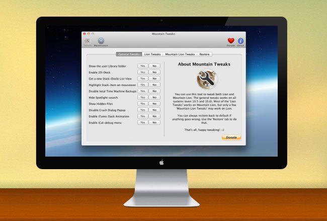 Mountain Tweaks App Help Fixes Annoyances In OS X Mountain