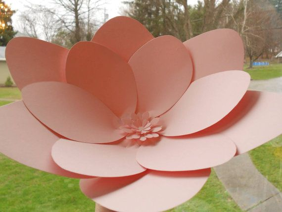 Large Size Paper Flower Wedding Decor Centerpiece By Paperweeds