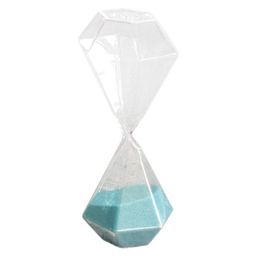 """Features:  -Colorful hourglass.  -Shape: Octagonal.  -Time frame: 4 Minutes.  Product Type: -Hourglass.  Style: -Glam.  Primary Material: -Glass. Dimensions:  Overall Height - Top to Bottom: -7.48""""."""