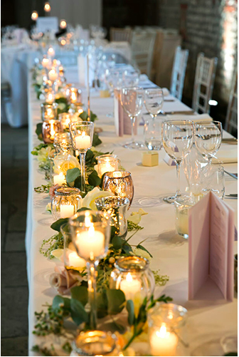 Top Table Candles And Flowers Wedding Top Table Candle Table Decorations Candle Table