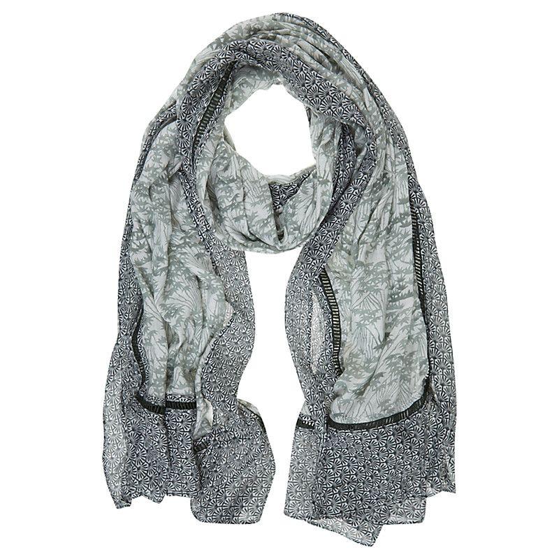 Gia print scarf khaki