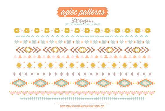 Aztec Tribal Png Digital Clip Art Instant Download By Hollymccaig 4 00 Clip Art Clip Art Borders Digital Clip Art