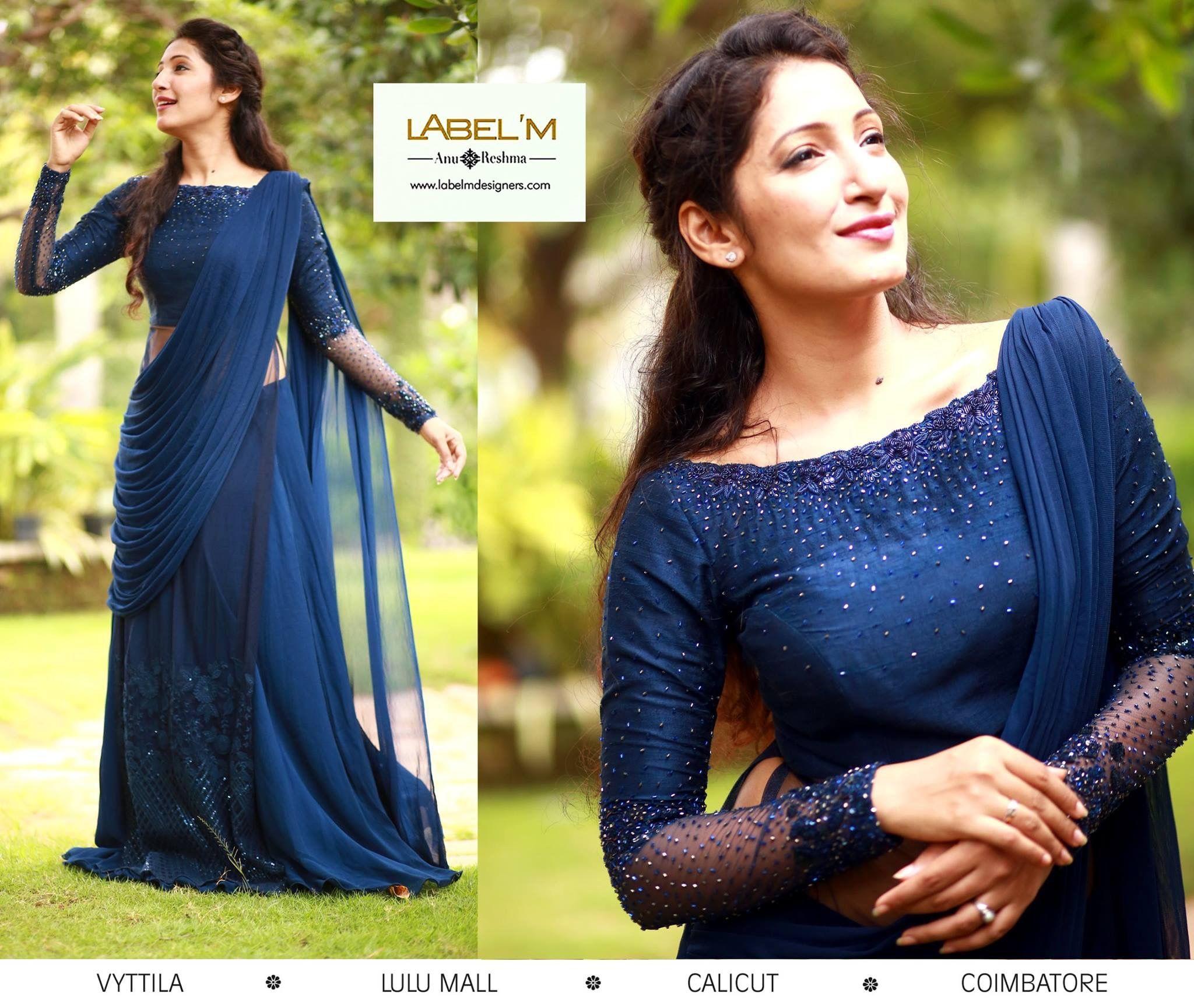 House Warming Kerala Engagement Dress Designer Saree Blouse Patterns Half Saree Designs