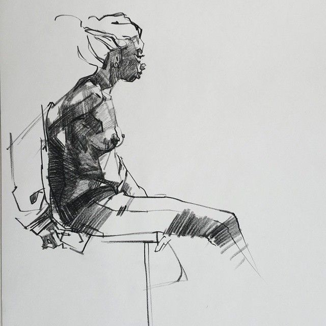 Conte On Newsprint At Arena Net Life Drawing