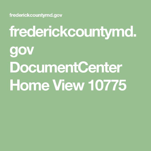 frederickcountymd.gov DocumentCenter Home View 10775