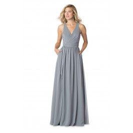 Bari Jay IC-1605-S Wrap Bodice Bridesmaid Dress