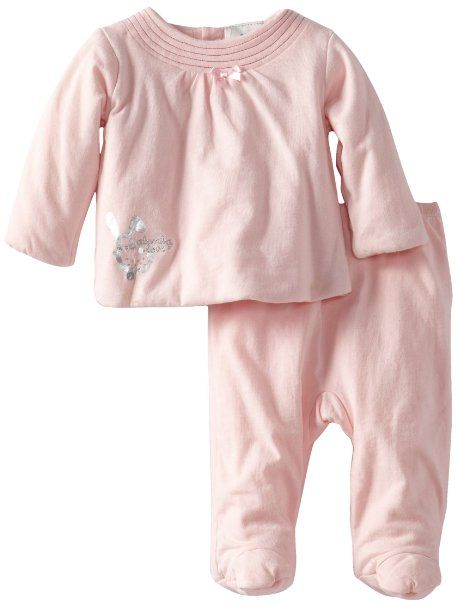 042e12ef34b8 Amazon.com  ABSORBA Baby-Girls Newborn Love Footed Pant Set ...