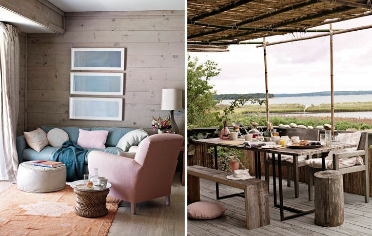Modern Scandinavian Beach House Decorated With Washed Wood Digsdigs Contemporary Beach House Beach House Decor Beach House Design