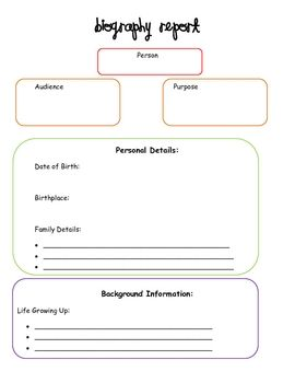 Writing graphic organizer for kids
