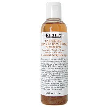 Kiehl's Calendula Herbal Extract Alcohol-Free Toner (Normal to Oil Skin) - 125ml/4.2oz by Kiehl's. $23.55. 125ml/4.2oz. Formulated with whole flowers & pure extracts Gently removes residue from cleanser or makeup Soothes skin without drying out moisture Maintain natural balance& beauty of skin Leaves skin clean, fresh & pure. Save 23%!