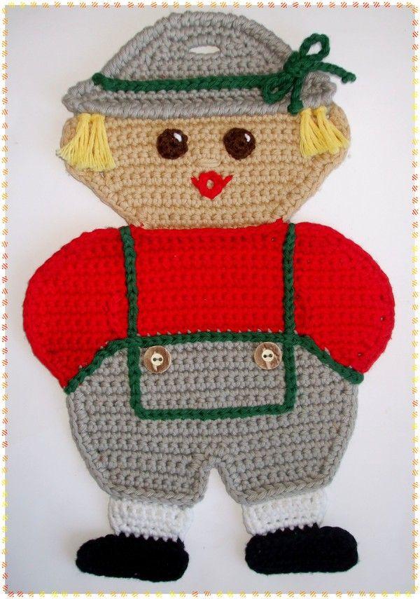 Topflappen häkeln | Topflappen | Pinterest | Potholders, Crochet and ...
