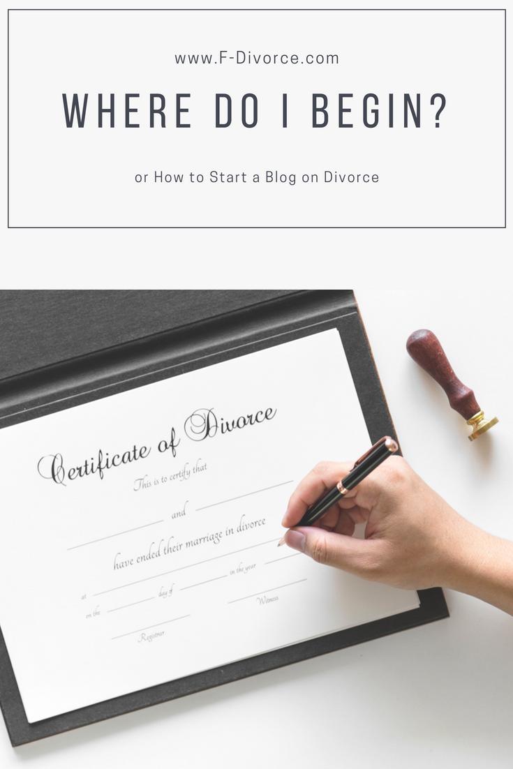 Divorce how to start