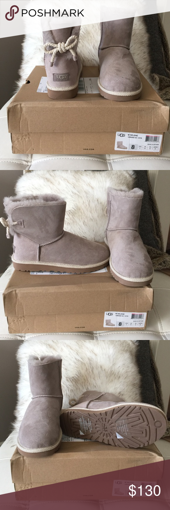 cf5c21b80f1 Brand New - UGG W SELENE Oyster in Color UGG Shoes Ankle Boots ...