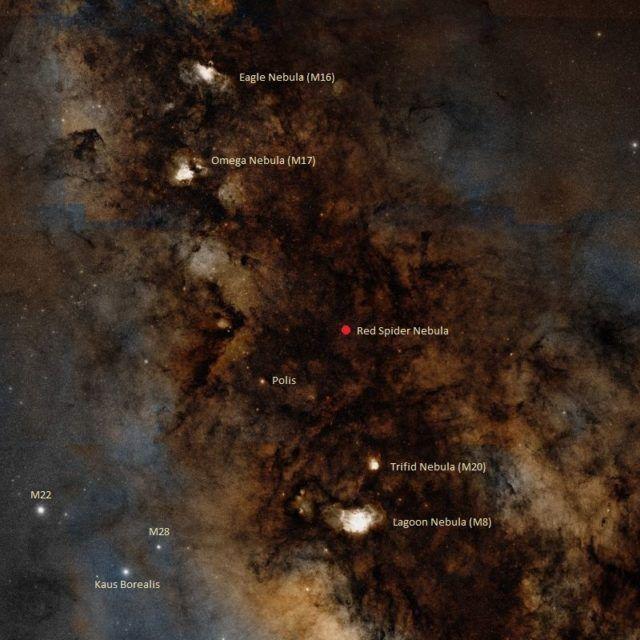 find red spider nebula,where i...