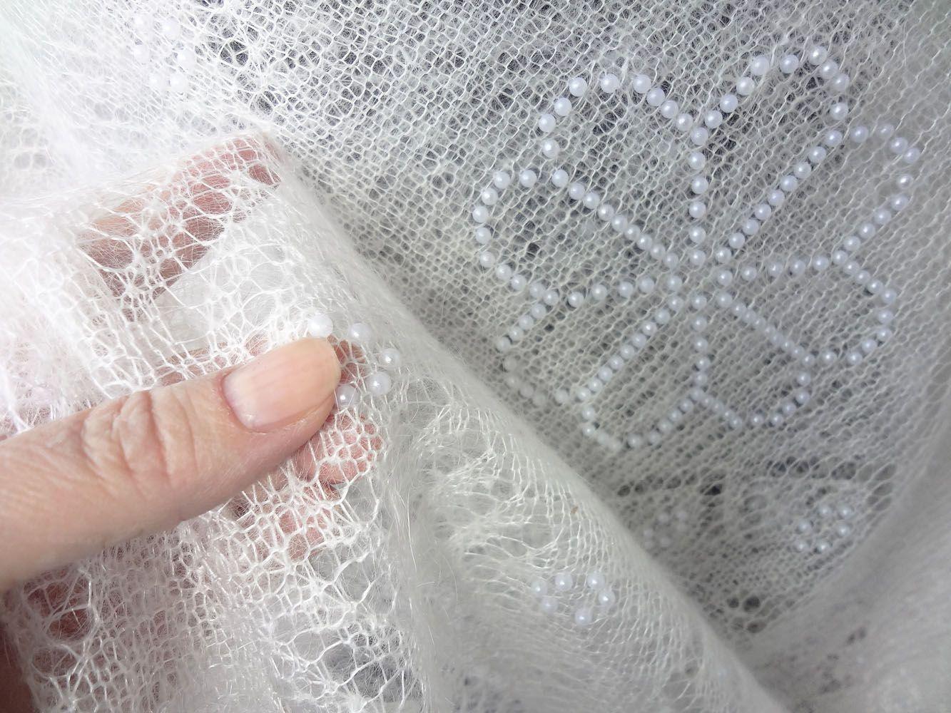 схема оренбургские снежинки на платках