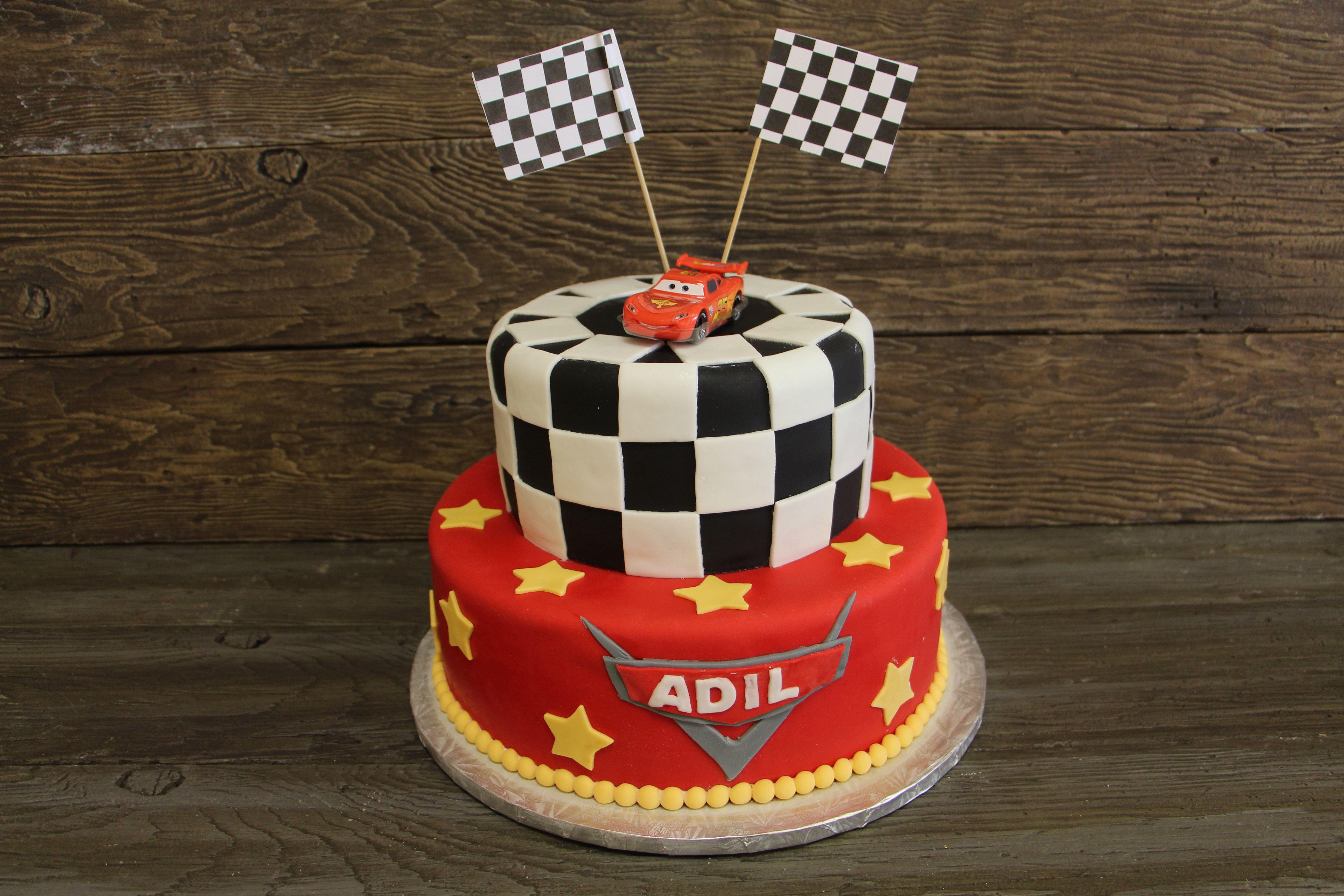 Cars birthday cake 559 by select bakery toronto on 405