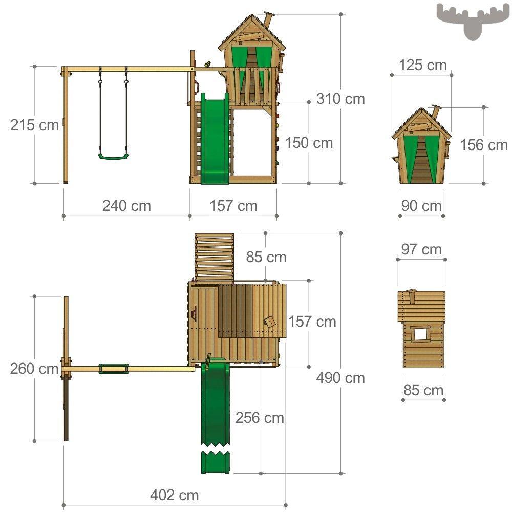 Trend Spielturm mit Schaukel HappyHome Hot XXL Weitere Klettert rme mit Spielhaus findest du in unserem FATMOOSE Online Shop Tolles Design g nstige Preise