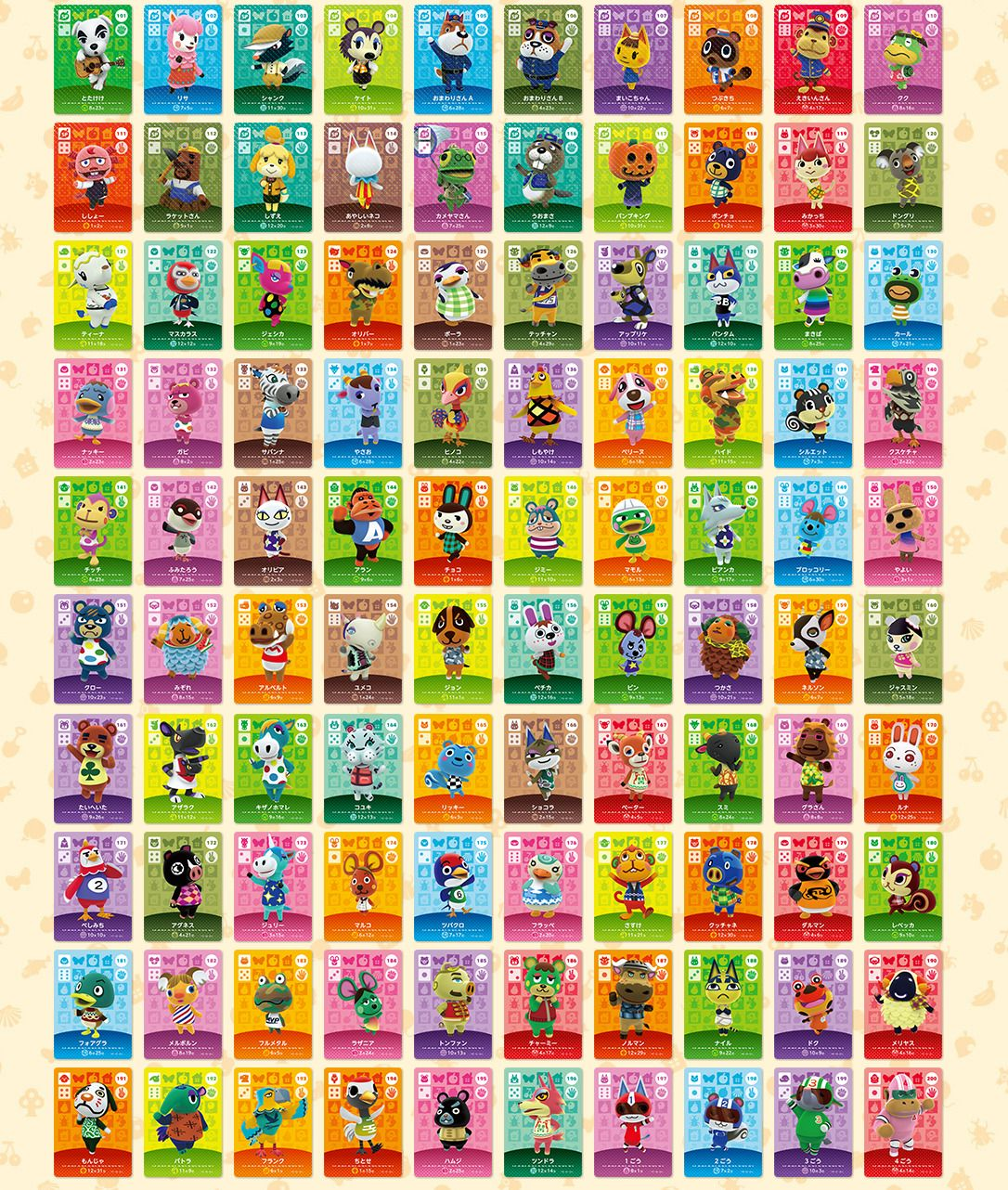 Animal Crossing Amiibo Series 2 Cards 101 200 Card Works In Ac New Horizans Animal Crossing Amiibo Cards Animal Crossing Animal Crossing Characters